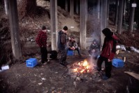 Homeless camp under a bridge in Bellingham